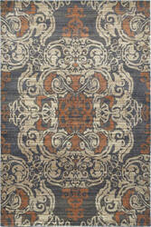 Oriental Weavers Pasha 8022k Blue - Rust Area Rug