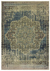 Oriental Weavers Raleigh 6649h Blue - Ivory Area Rug