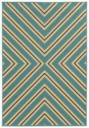 Oriental Weavers Riviera 4589j Teal Blue Area Rug