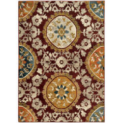 Oriental Weavers Sedona 6366a Red Area Rug