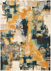 Oriental Weavers Sedona 9593a Blue - Gold Area Rug