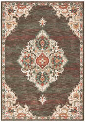 Oriental Weavers Toscana 9568c Charcoal - Orange Area Rug