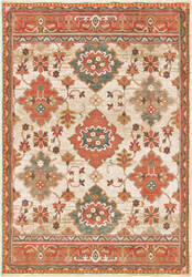 Oriental Weavers Toscana 9570a Ivory - Orange Area Rug