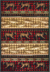 Oriental Weavers Woodlands 9594b Red - Multi Area Rug