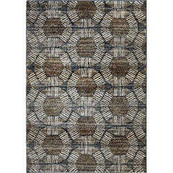 Palmetto Living Adagio 8231 Textured Penny Blue Area Rug