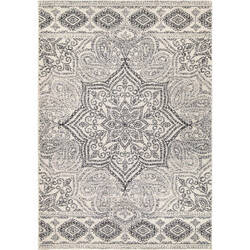 Palmetto Living Adagio 8249 Paisley Points Muted Blue Area Rug