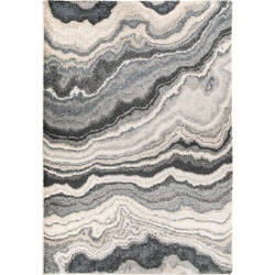 Palmetto Living Mystical 7010 Cascade Taupe Inkwell Area Rug