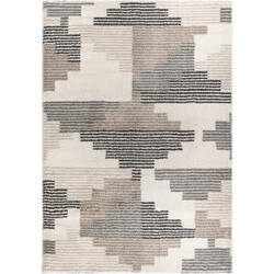 Palmetto Living Mystical 7013 Deco Blocks Muted Blue Area Rug
