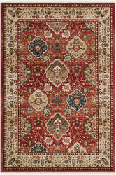 Ralph Lauren Power Loomed Lrl1255c Red - Beige Area Rug