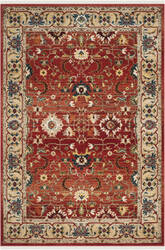 Ralph Lauren Power Loomed Lrl1293c Red - Beige Area Rug