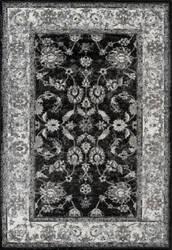 Ramerian Aleah 4400-ALX Black - Ivory Area Rug