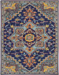 Ramerian Bolanle 500-BOH Blue Violet Area Rug