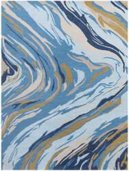 Ramerian Carmella 1100-CRR Azure Blue Area Rug