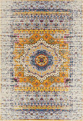 Ramerian Manda 3300-MAN Ivory - Orange Area Rug