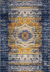 Ramerian Manda 3400-MAN Navy - Orange Area Rug