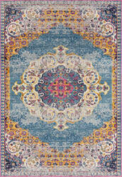Ramerian Manda 300-MAN Blue - Orange Area Rug