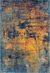 Ramerian Manda 4100-MAN Orange - Blue Area Rug