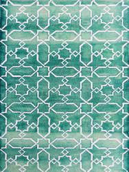 Ramerian Sherri 1000-SHI Sea Blue - White Area Rug