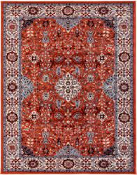 Ramerian Sandrine 600-SNA Crimson - Ivory Area Rug