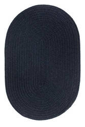Rhody Rugs Solid S156 Navy Area Rug