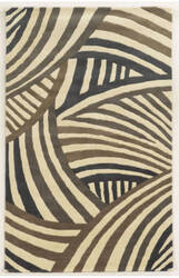 Rizzy Fusion Fn8582 Brown - Grey Area Rug