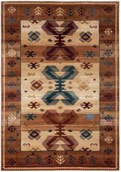 Rizzy Bellevue Bv-3705 Tan - Ivory - Brown Area Rug