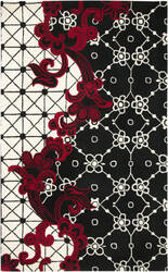 Rizzy Fusion Fn1447 Black Area Rug