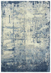 Rizzy Impressions Imp107 Blue - Ivory Gray Area Rug