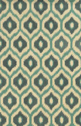 Rizzy Rockport Rp8737 Blue - Teal - Dark Teal Area Rug