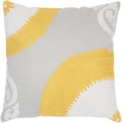 Rugstudio Sample Sale 61132R Gray / Yellow