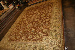 Rugstudio Sample Sale Oc-9009 Brown - Gold Area Rug