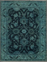 Rugstudio Overdyed 444187-616 Blue Area Rug