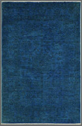 Rugstudio Overdyed 444192-616 Blue Area Rug