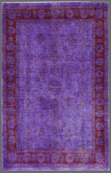 Rugstudio Overdyed 449425-616 Purple Area Rug