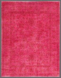 Rugstudio Overdyed 449439-616 Pink Area Rug