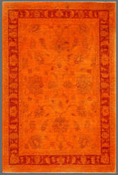 Rugstudio Overdyed 449451-616 Orange Area Rug