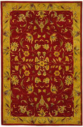 Safavieh Anatolia AN526A Burgundy / Gold Area Rug