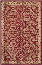 Safavieh Anatolia An583b Red / Ivory Area Rug