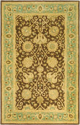 Safavieh Antiquities AT21G Brown / Green Area Rug