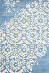 Safavieh Bella Bel125c Light Blue - Ivory Area Rug