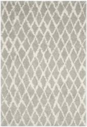 Safavieh Berber Shag Ber163b Light Grey - Cream Area Rug