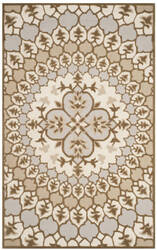 Safavieh Bellagio Blg610b Ivory - Dark Beige Area Rug