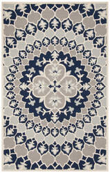 Safavieh Bellagio Blg610c Navy Blue - Ivory Area Rug