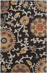 Safavieh Blossom Blm401a Charcoal - Multi Area Rug