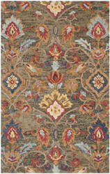 Safavieh Blossom Blm402b Green - Multi Area Rug