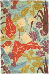 Safavieh Blossom Blm674a Blue / Multi Area Rug