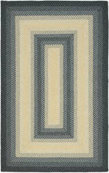 Safavieh Braided BRD311A Black / Grey Area Rug