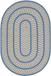 Safavieh Braided Brd401a Ivory / Blue Area Rug