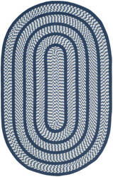 Safavieh Braided Brd401d Ivory / Navy Area Rug