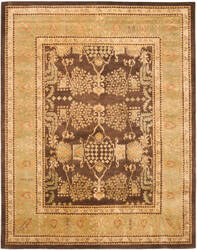 Safavieh Bergama BRG190B Brown / Green Area Rug